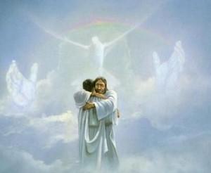 Christ Hugging Man