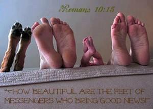 messengers feet